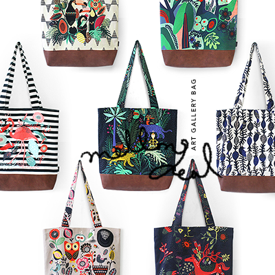 Fabric Bag, Cotton Bag, Eco Bag, Bag, 코튼가방, 에코백, Art Gallery Bag,designer bag